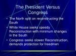 the president versus congress