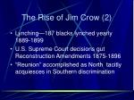 the rise of jim crow 2
