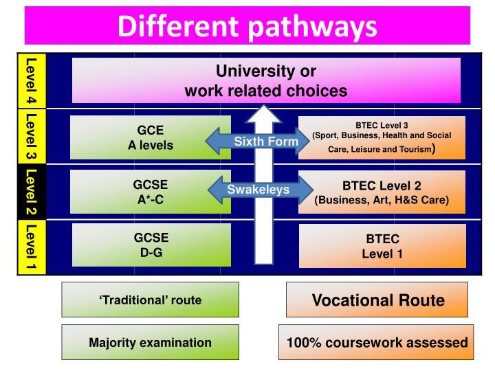 Different pathways