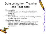 data collection training and test sets2