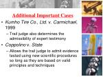 additional important cases