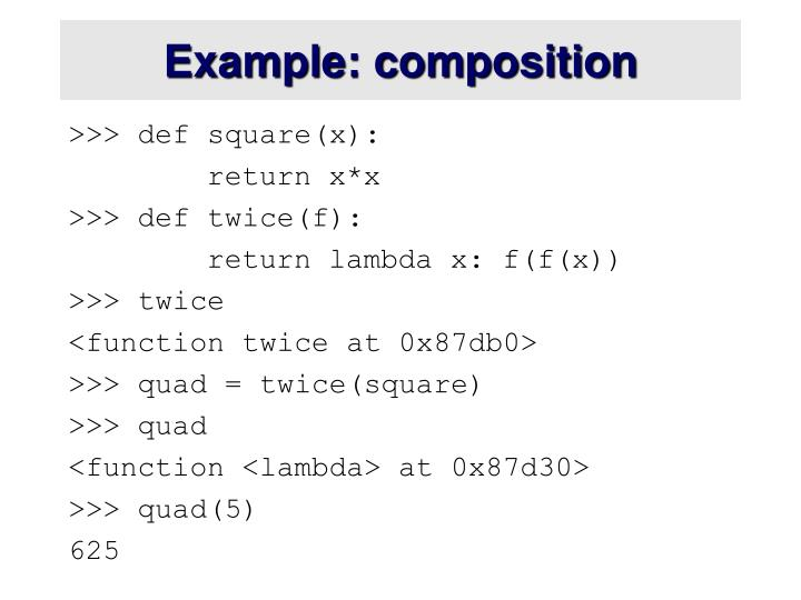 Example: composition