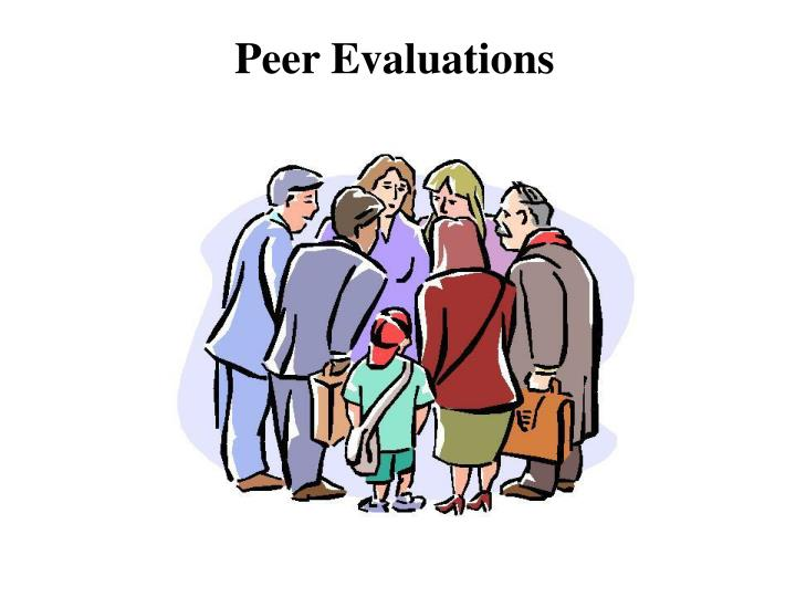 peer evaluation of presentations Presentation peer evaluation is designed to assess and rate the presentation skills of one's peers this evaluation form is given to those who have attended the.