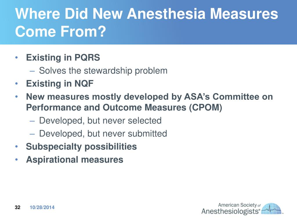 PPT - Understanding PQRS and why reporting via an anesthesia