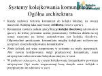 systemy kolejkowania komunikat w og lna architektura