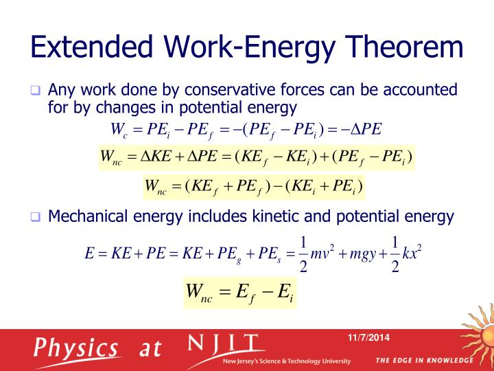 Extended Work-Energy Theorem