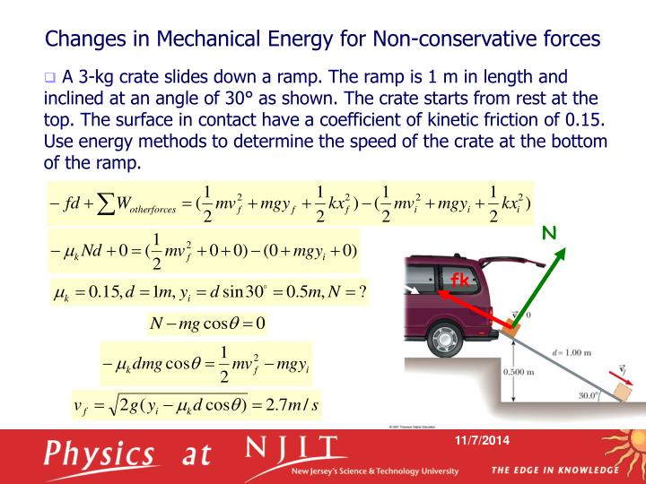 Changes in Mechanical Energy for Non-conservative forces
