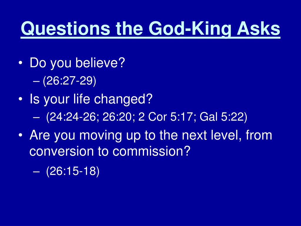 PPT - God is King Acts 24:1 – 26:32 PowerPoint Presentation