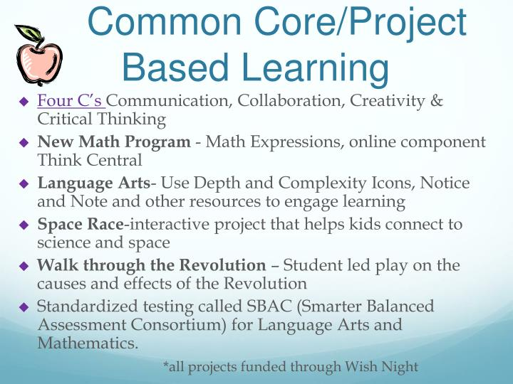 Common Core/Project Based Learning