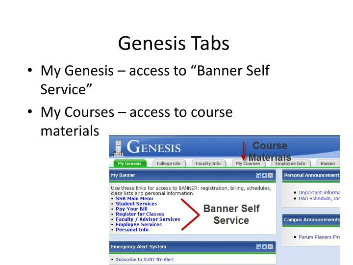 Genesis Tabs