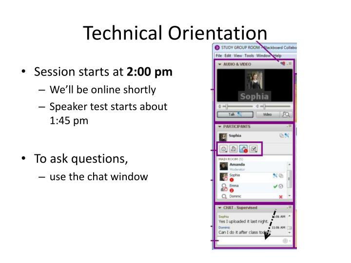 Technical orientation1