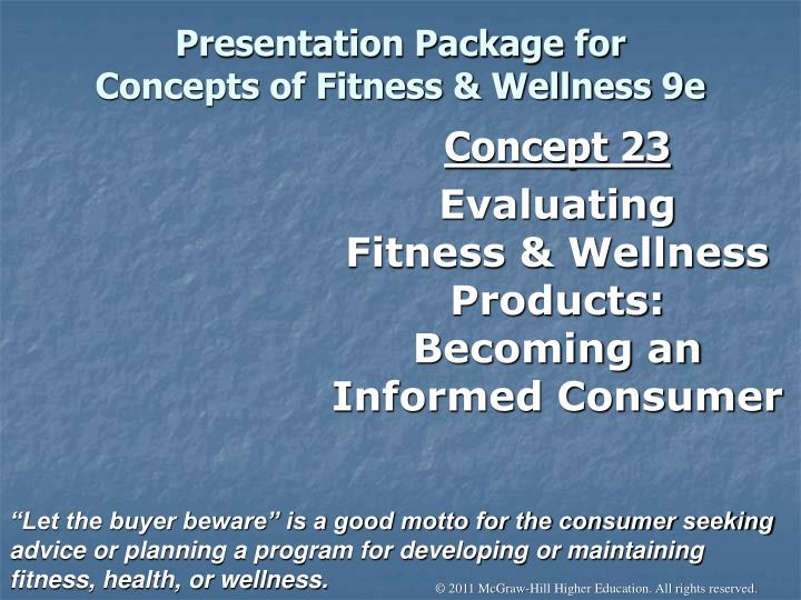 presentation package for concepts of fitness wellness 9e n.