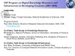 iap program on digital knowledge resources and infrastructure in developing countries 2007 2010