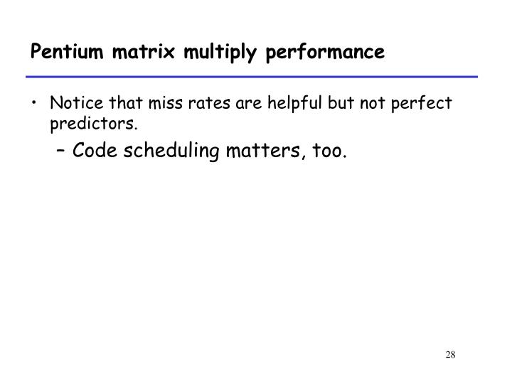 Pentium matrix multiply performance