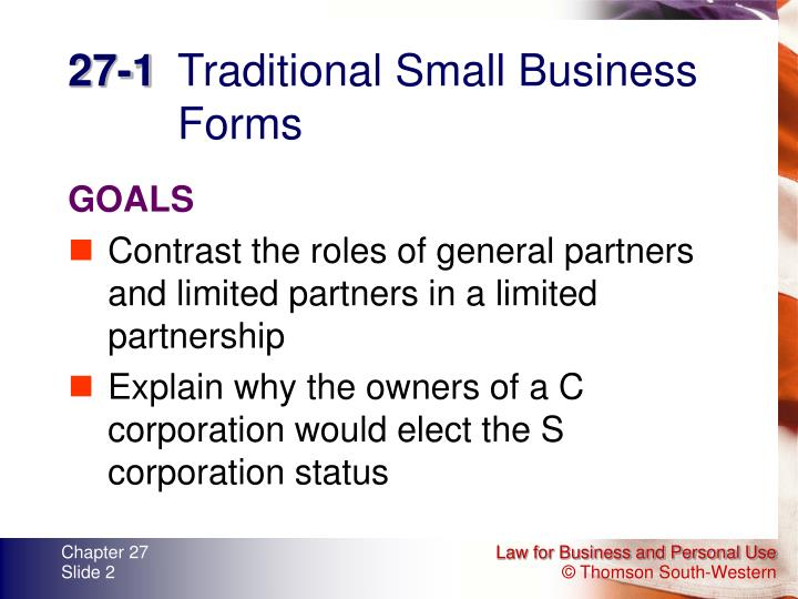 27 1 traditional small business forms