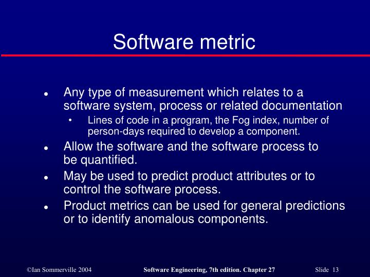 Software metric