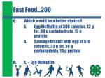 fast food 200