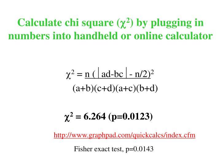 Calculate chi square (