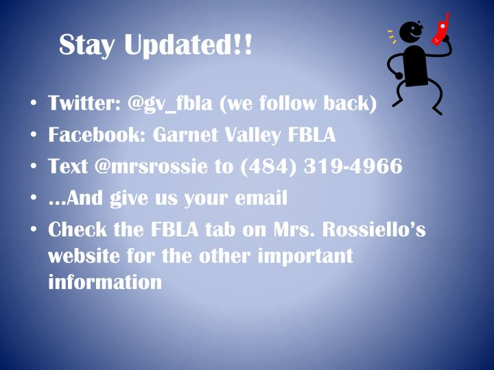 Stay Updated!!