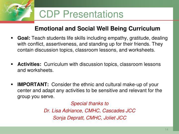 CDP Presentations