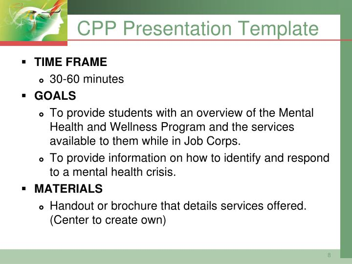 CPP Presentation Template