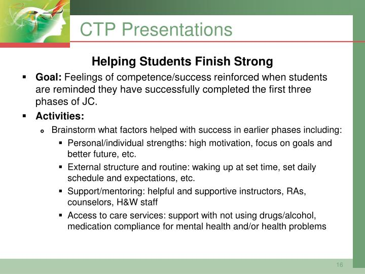 CTP Presentations
