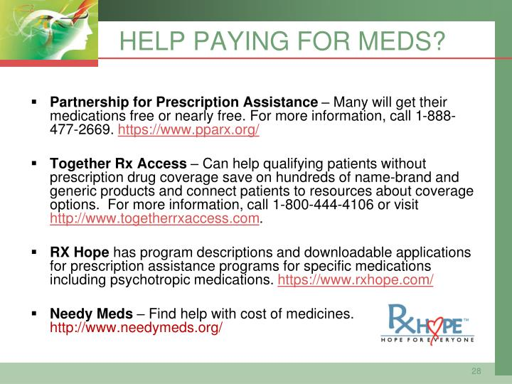 HELP PAYING FOR MEDS?