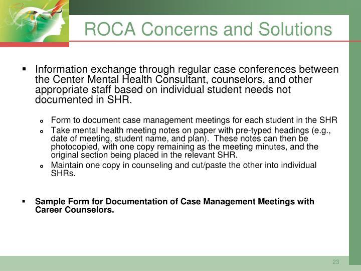 ROCA Concerns and Solutions