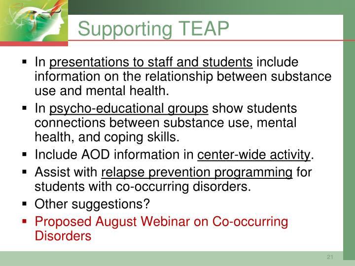 Supporting TEAP