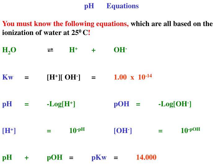 PHEquations