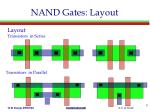 nand gates layout