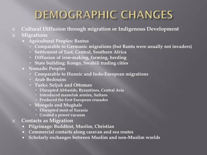 DEMOGRAPHIC CHANGES