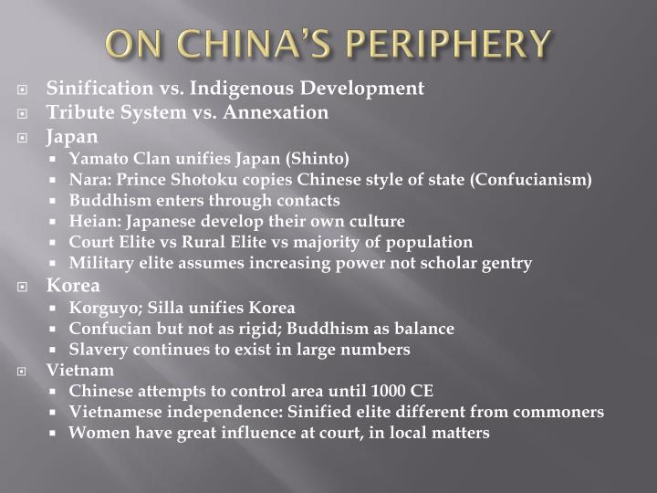 ON CHINA'S PERIPHERY