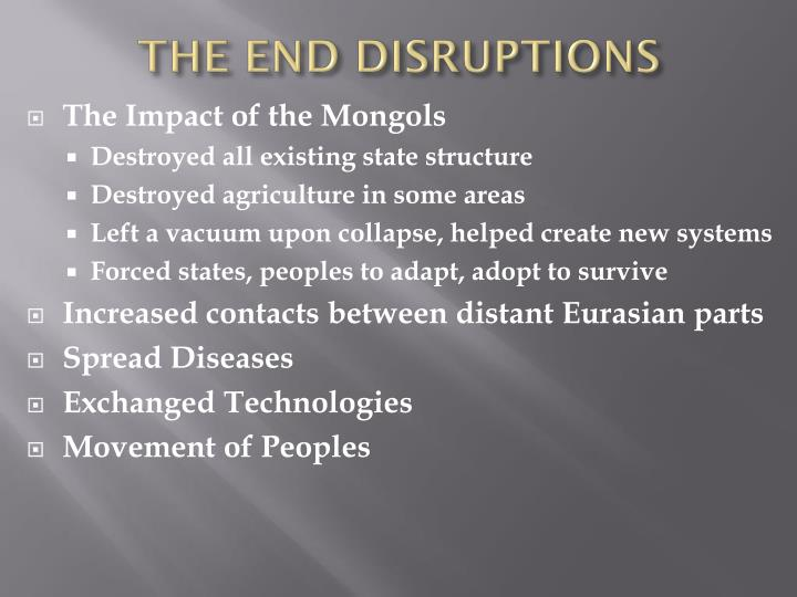 THE END DISRUPTIONS