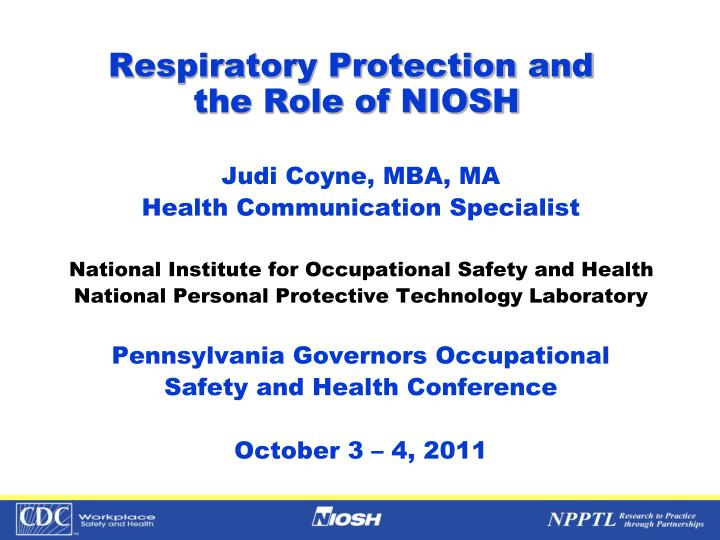 an introduction to the national institute for occupational safety and health niosh Site visit report xxxx construction site introduction the national institute of occupational safety and health (niosh) reports that construction workers have.