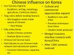 chinese influence on korea