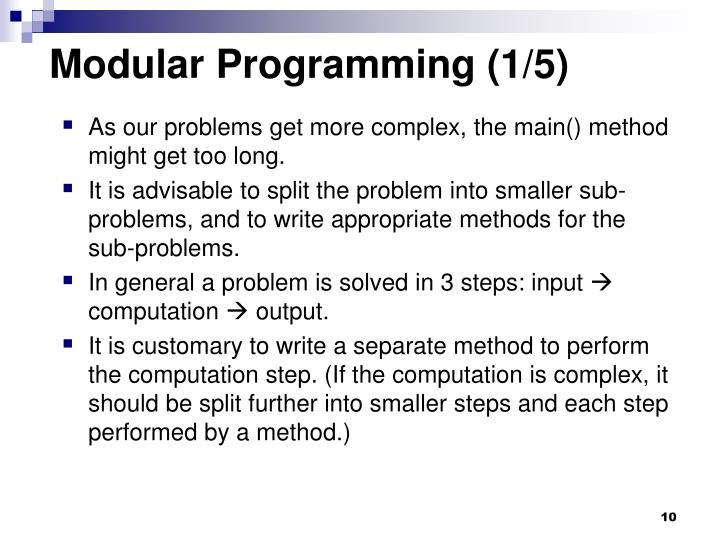 Modular Programming (1/5)