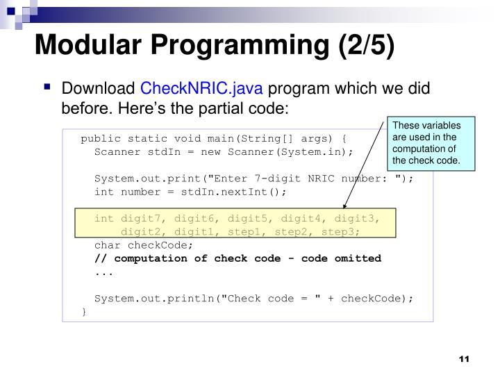 Modular Programming (2/5)