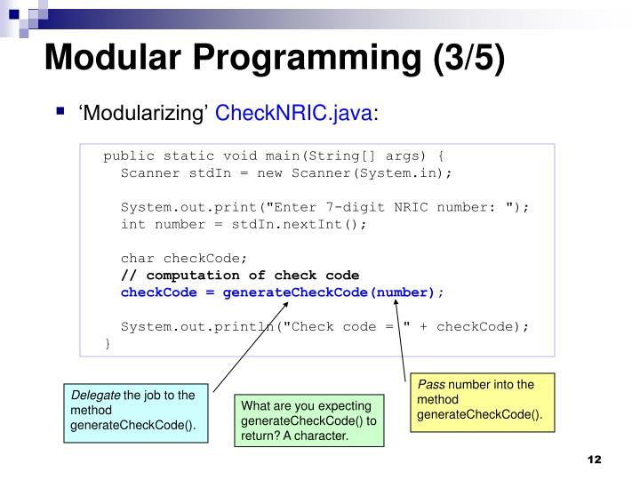 Modular Programming (3/5)
