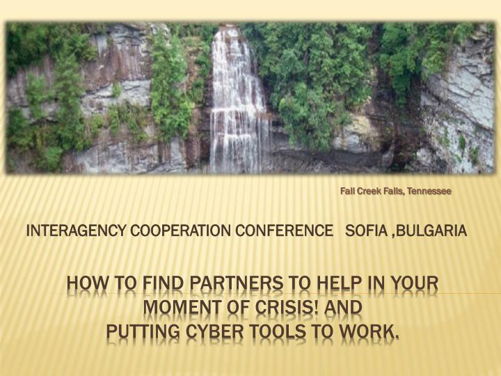 Interagency cooperation conference sofia bulgaria
