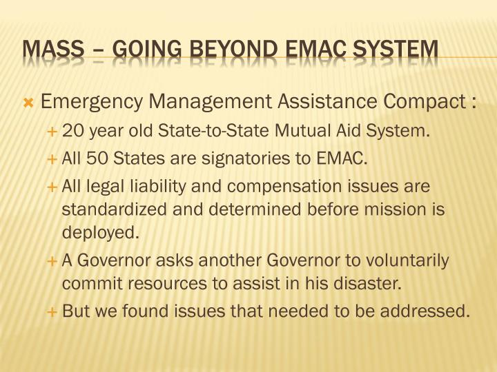 Emergency Management Assistance Compact :