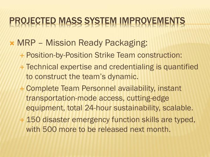 MRP – Mission Ready Packaging: