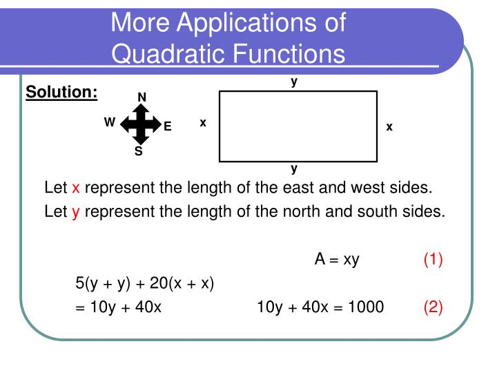 More applications of quadratic functions2