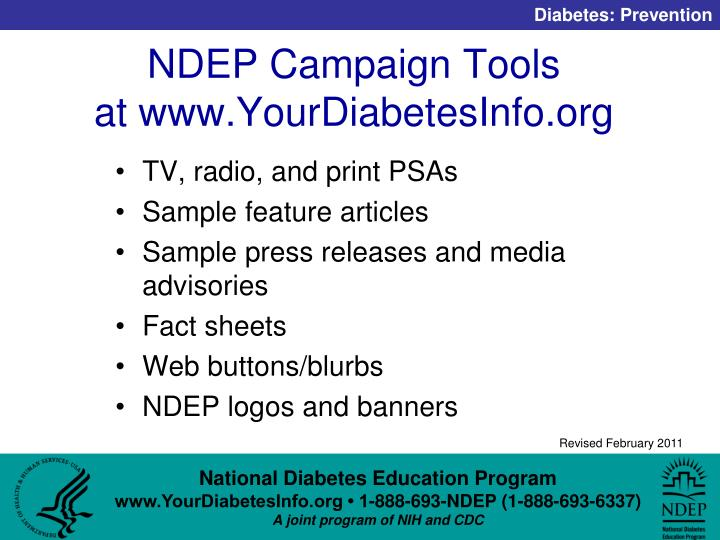 NDEP Campaign Tools