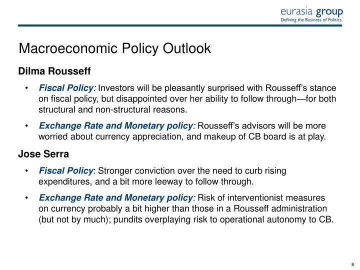 Macroeconomic Policy Outlook