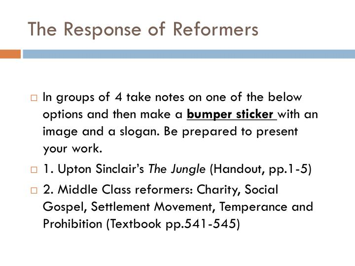 The Response of Reformers