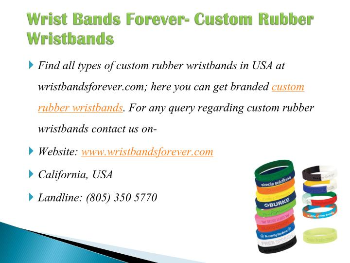Wrist bands forever custom rubber wristbands