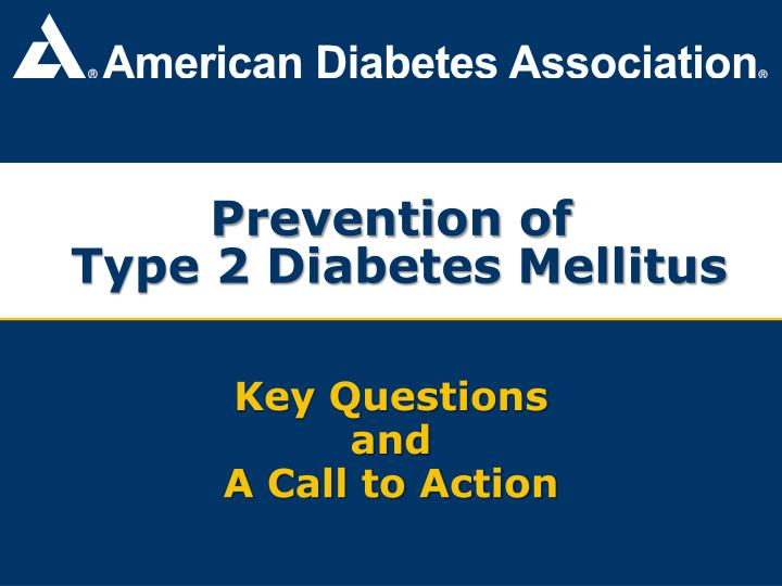 prevention of type 2 diabetes mellitus n.