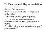 tv drama and representation