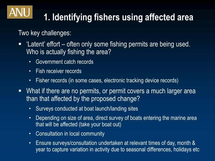 1. Identifying fishers using affected area
